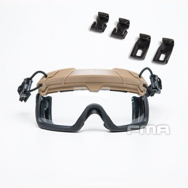 FMA - Tactical Helmet Safety Goggles WHITE - Dark Earth