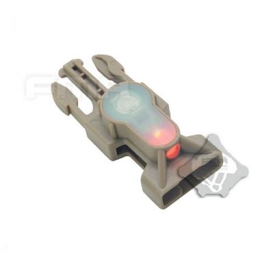 FMA - Mil-Spec Side Release Buckle Strobe Light Red - Dark Earth