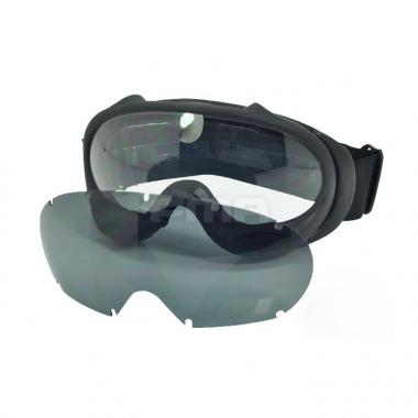 FMA - OK ski goggles  black and white lenses - Black