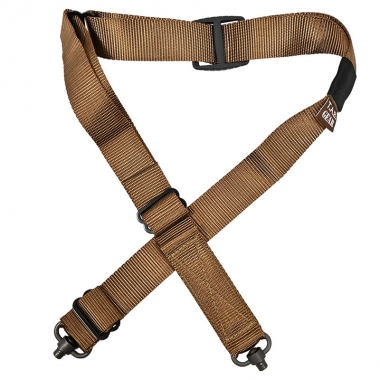 Tab Gear - CAD Rifle Sling Without Buckles-QD Push Button - Coyote Brown