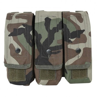 Voodoo Tactical - M-4/AK47 Mag Pouch - Woodland