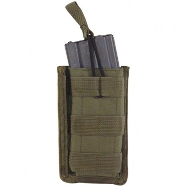 Voodoo Tactical - M4/M16 Open Top Mag Pouch w/ Bungee System Single - OD Green