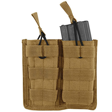 Voodoo Tactical - M4/M16 Open Top Mag Pouch w/ Bungee System Double - Coyote