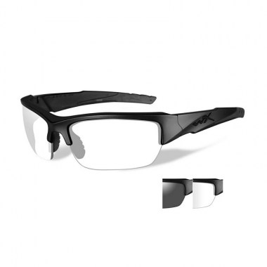 Wiley X - VALOR Glasses - Smoke Grey/Clear Matte Black Frame