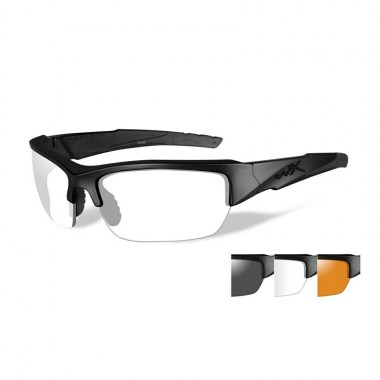 Wiley X - VALOR Glasses - Clear/Grey/Light Rust Matte Black Frame