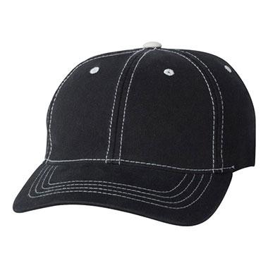 Flexfit - Contrast Color Stitched Cap - Black/ Stone