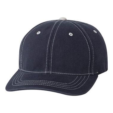 Flexfit - Contrast Color Stitched Cap - Navy/ Stone