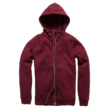 Vintage Industries - Basing hooded sweatshirt - Cranberry
