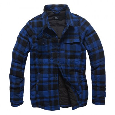 Vintage Industries - Square padded shirt - Blue Check