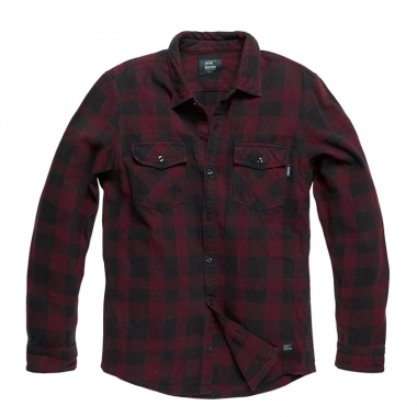 Vintage Industries - Globe heavyweight shirt - Burgundy Check