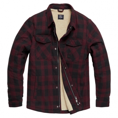 Vintage Industries - Craft heavyweight sherpa - Burgundy Check
