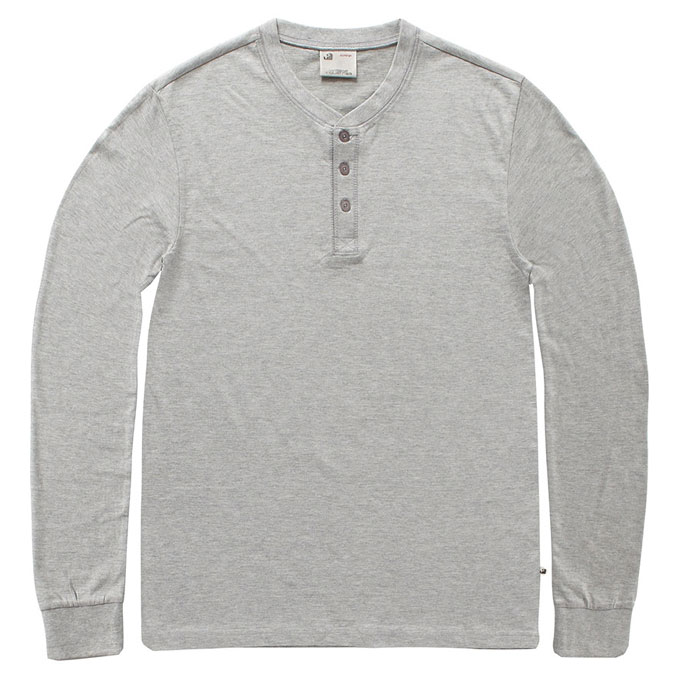 Vintage Industries - Shoreline long sleeve henley shirt - Heather